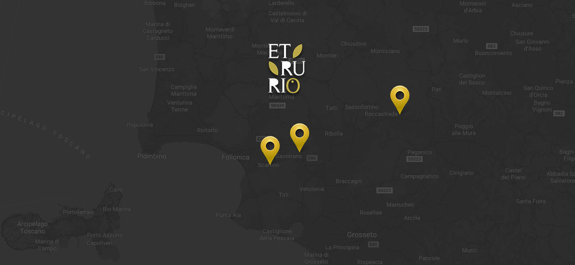 Etrurio locations in Tuscany